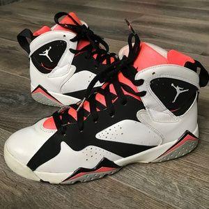 Air Jordan 7 Retro GG 'Hot Lava' White Black Pink